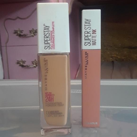 caa76037d06 Maybelline Makeup | Superstay Foundation Lipstick | Poshmark